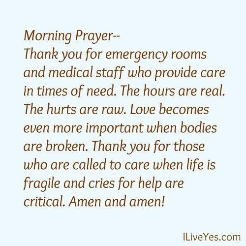 Prayer of thanks for medical staff | Pray Praying Prayers