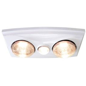 Thermalite In Bathroom Heater In White With Heat Lamps