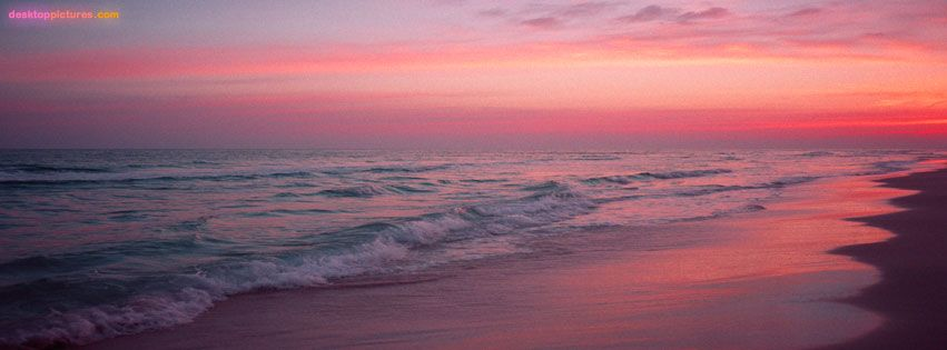Seaside Sunset Facebook cover photo easy to see why it's