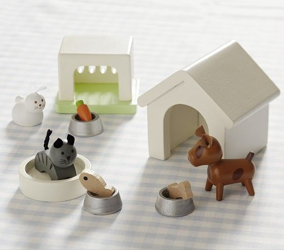 Dollhouse Pet Set Doll House Pets Kids Doll House