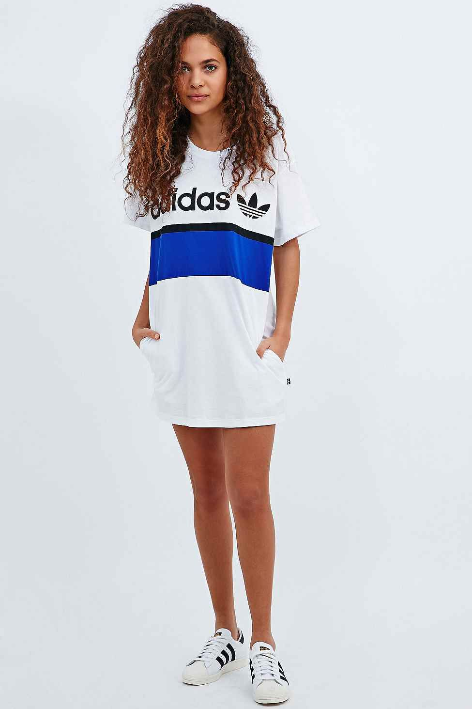 354bd2231 adidas City Tee Dress in White | Fashion | Adidas dress, Adidas ...