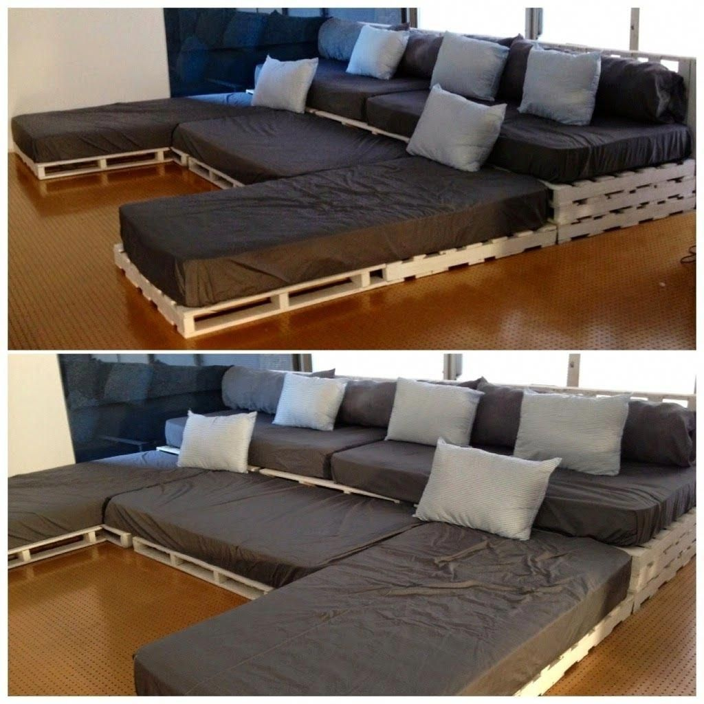 Large Cushions For Pallet Couch Wooden Pallet Corner Sofa Pallet House 20190 Corner Couch Cu In 2020 Sofa Couch Design Pallet Furniture Pallet Patio Furniture