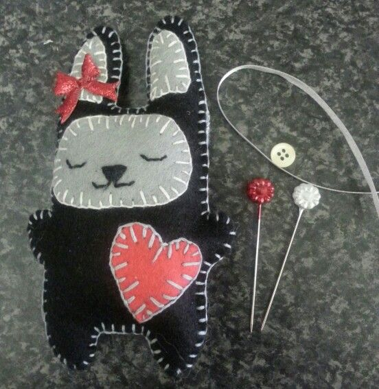 BUNNY ~ haven't decided if its going to be hanging decoration or a pin cushion. ...currently being voted on
