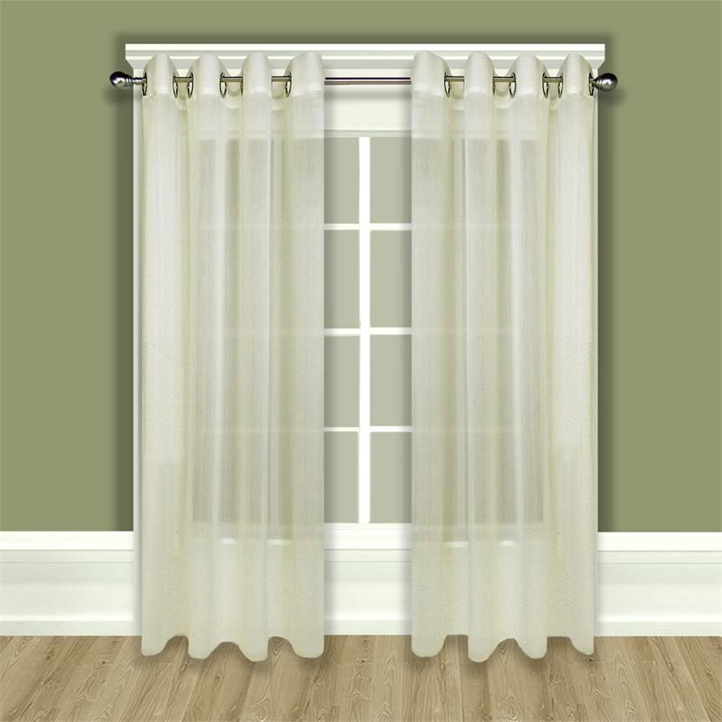 Tergaline Sheer Grommet Curtain Panel In Ivory Or White |  Bestwindowtreatments.com
