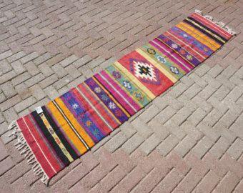 Flur Läufer vintage flur läufer teppich türkischer kelim teppich läufer wolle