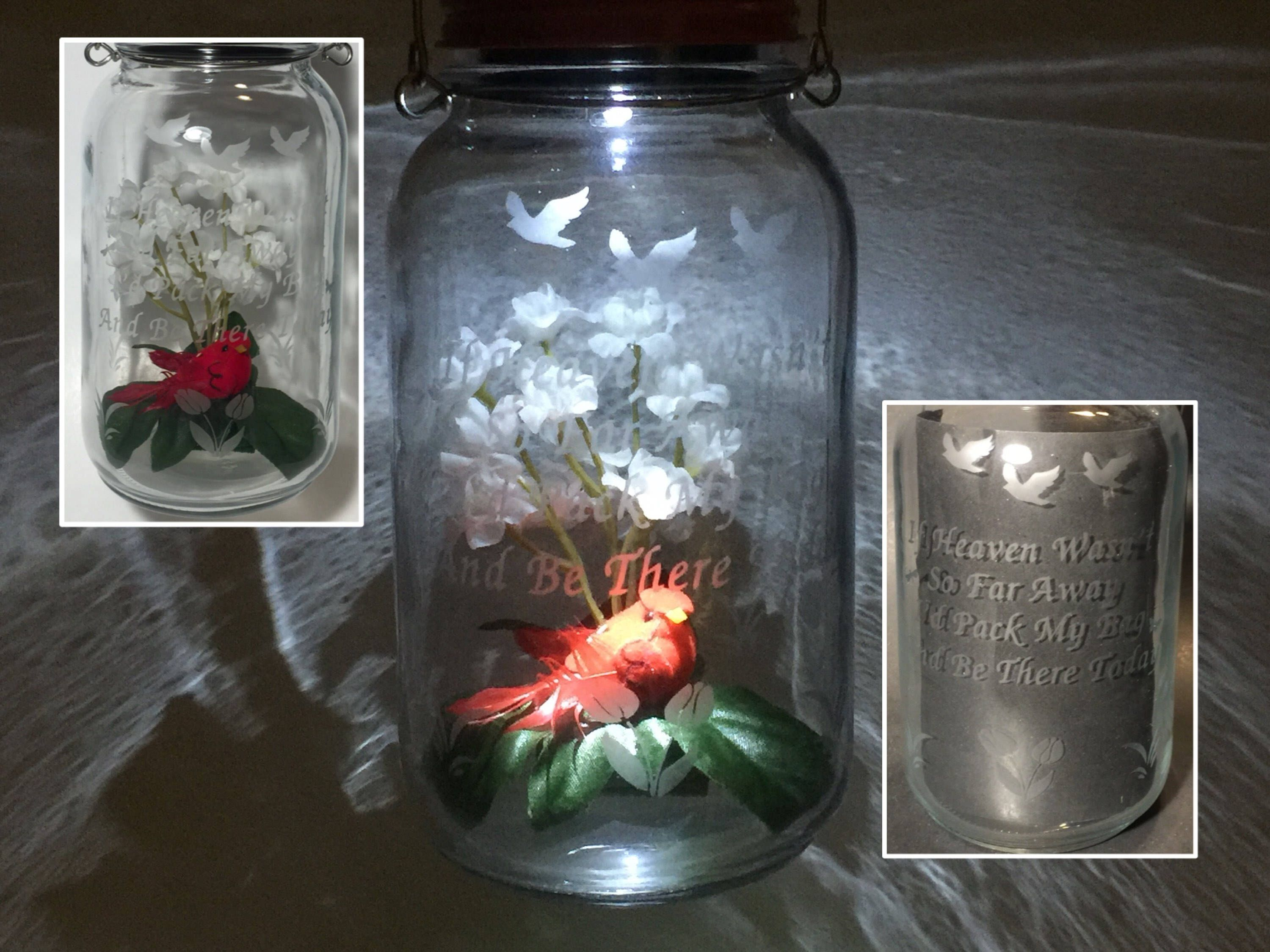 Cardinal Solar Light Grave Decoration Cemetery Lantern In Memory Of