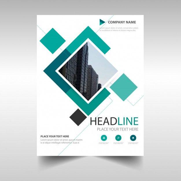 Modèle de couverture de livre de rapport annuel créatif vert - free annual report templates