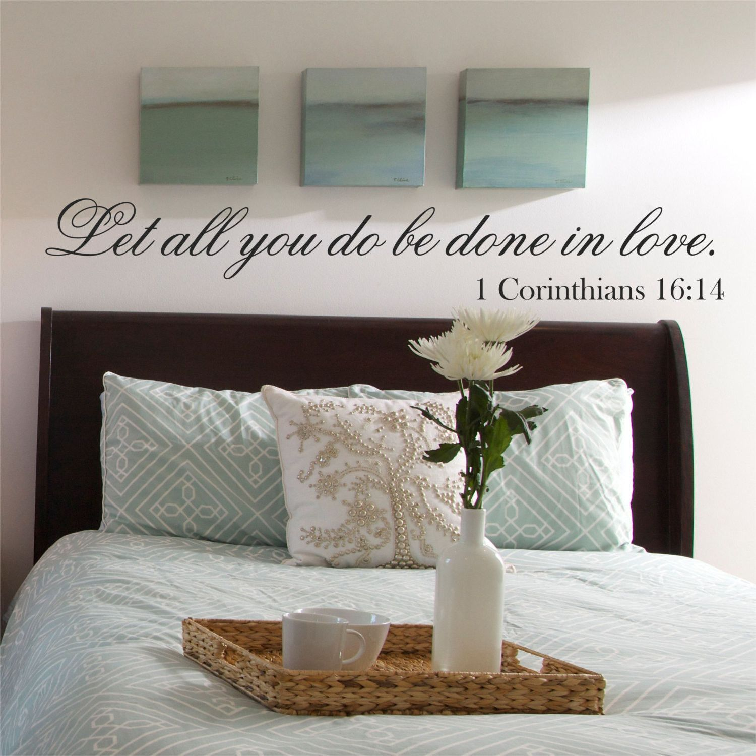 Let all you do be done in love bible quote wall quote vinyl wall