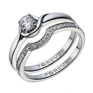 The Forever Diamond 9ct White Gold Bridal Ring Set Product Number 1669893