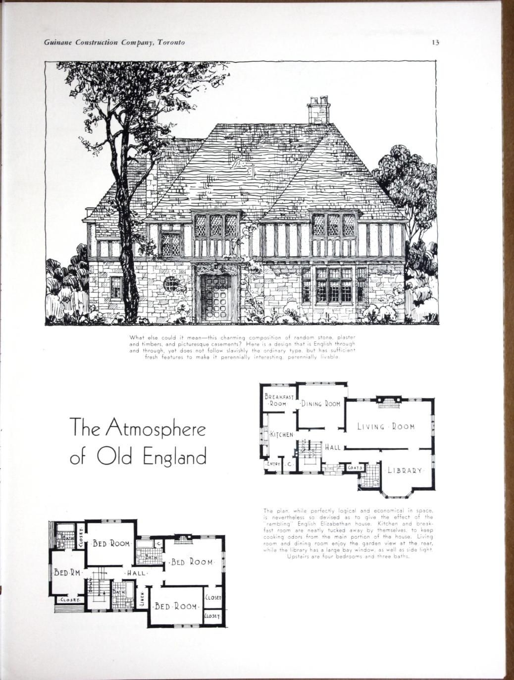 Planning Building Financing The Home By Guinane Construction Company Published 1932 Vintage House Plans House Floor Plans Mansion Plans