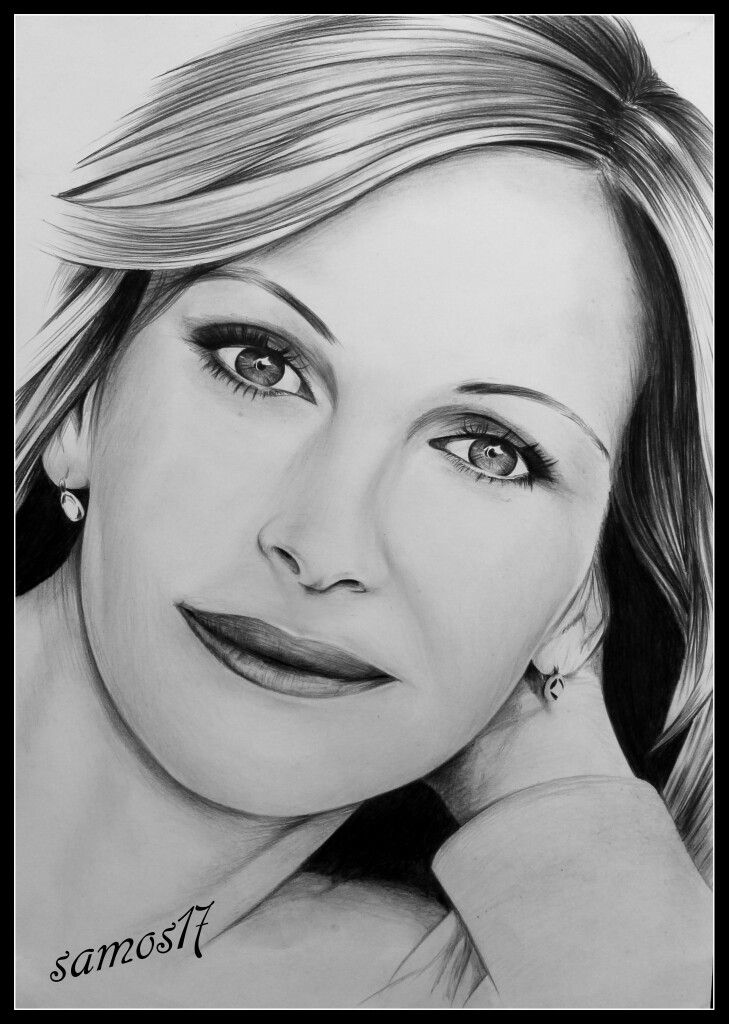 julia roberts dessin au crayon portrait de star drawing amazing. Black Bedroom Furniture Sets. Home Design Ideas