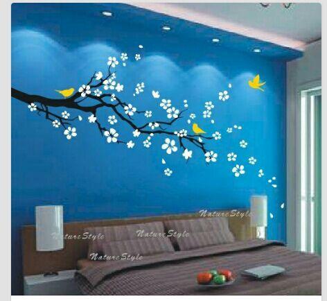 Perfect Cerezo Sobre Azul Design