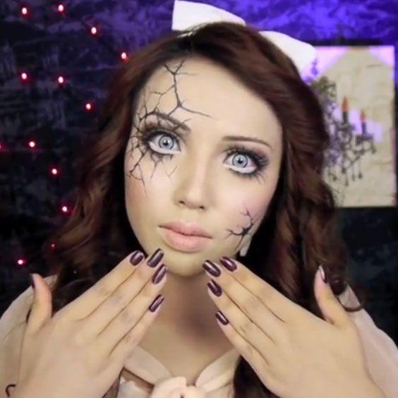 Diy Halloween Costumes For Women Cracked Doll Makeup Tutorial