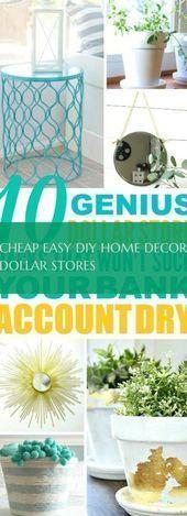 Billig Einfach Diy Wohnkultur Dollar Speichert Billig Dekor Diy Dollar Billig In 2020 Dekor Diy Einfache Diy Zuhause Diy