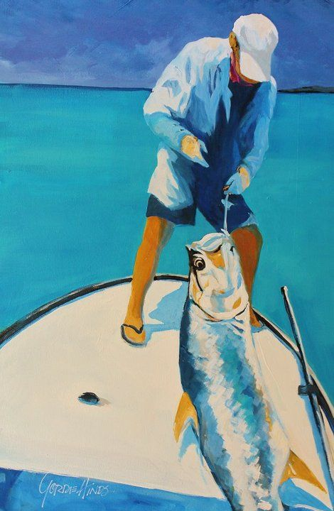 Gordie Hinds The Tarpon Guide On Artstack Gordie Hinds Art In