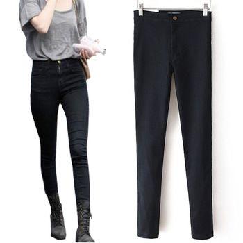 Mujeres lápiz pantalones vaqueros de cintura alta pantalones flacos elásticos delgados Sexy Slim Fit señora Jeans tallas grandes pantalones vaqueros ocasionales del verano estilo 2