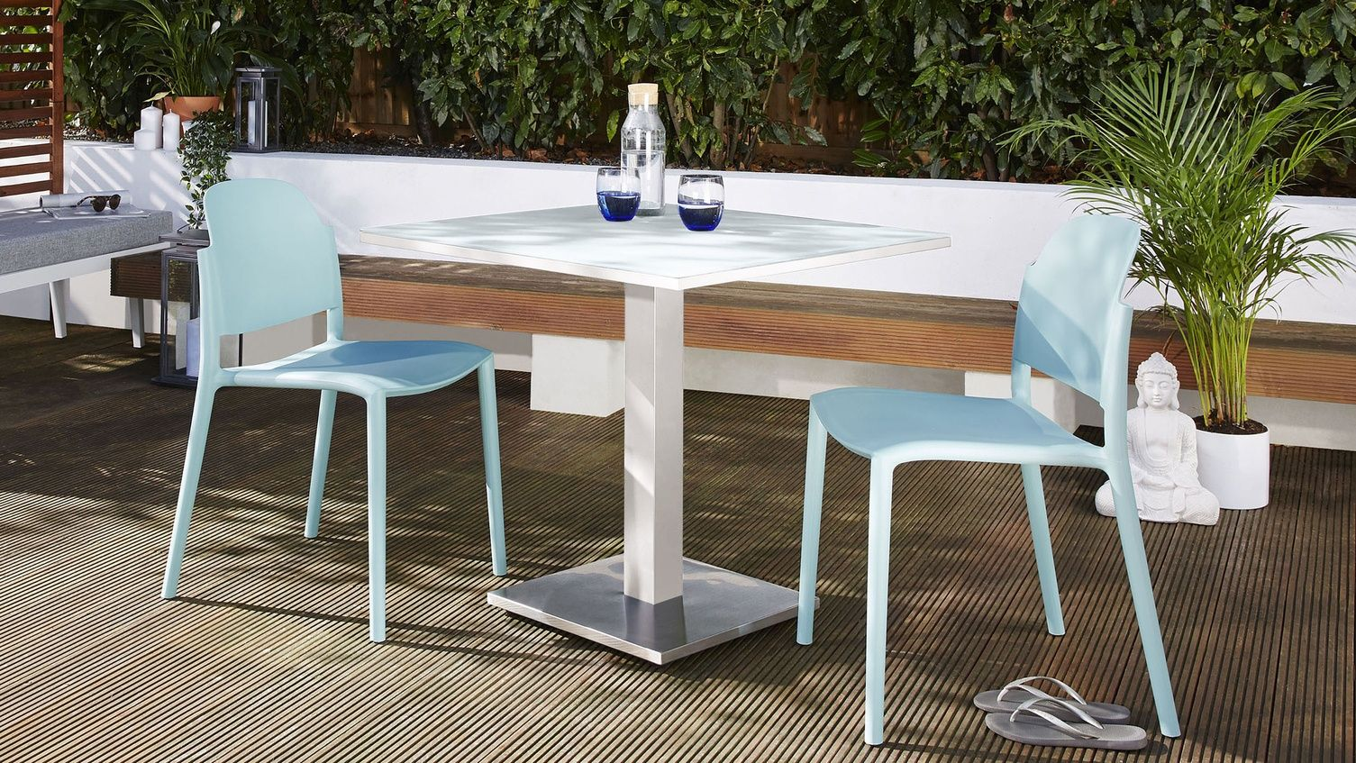 Palermo White 2 4 Seater Outdoor Table Danetti Uk Modern Outdoor Dining Sets White Outdoor Table Outdoor Dining Set