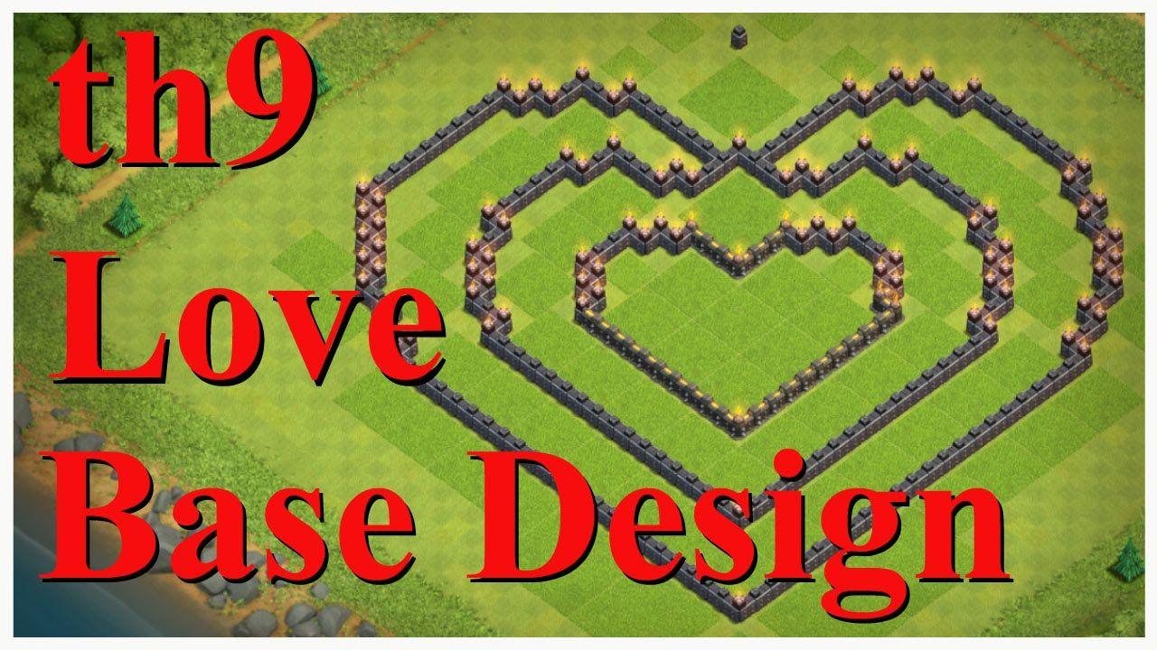 Base Coc Th 7 Bentuk Love 4