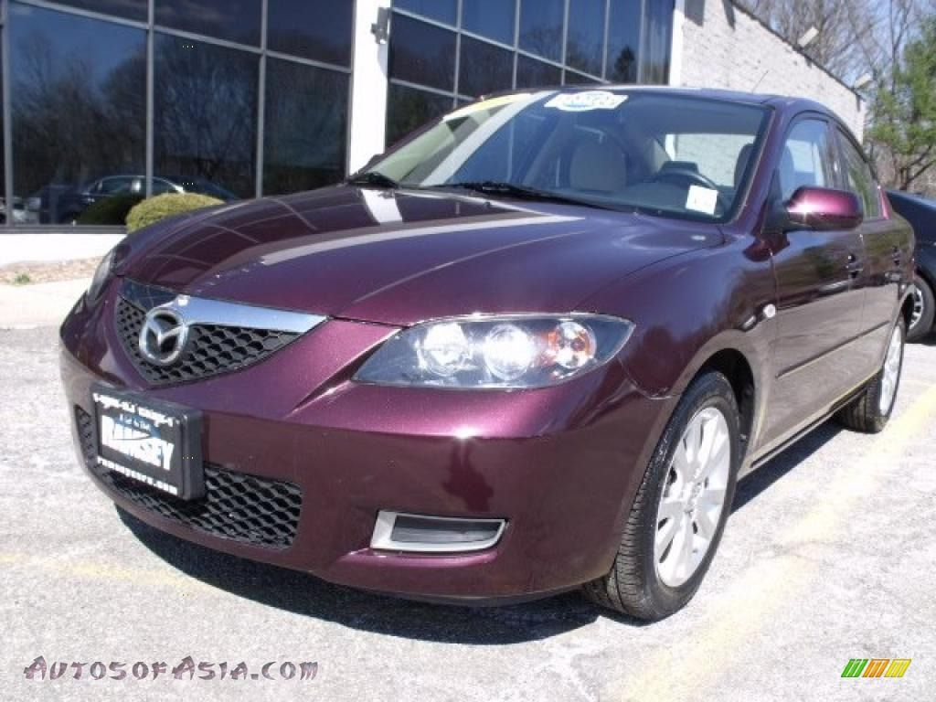 2008 Mazda Mazda3 I Sport Sedan In Phantom Purple Mica 863965 Mazda Mazda3 Sports Sedan Mazda 3