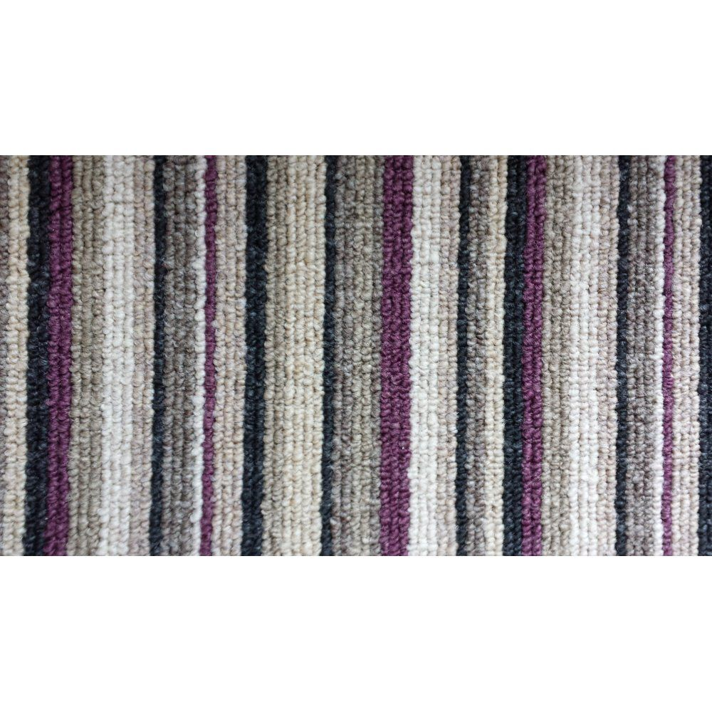 Best Allfloors Oxford Stripe 9766 Mauve 100 Polypropylene Easy 400 x 300