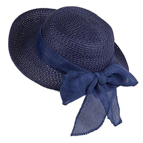 6d9844b87ff Beautiful Sun Straw Hat-Womens Floppy Hats Beach Summer Fashion Caps with  UV Protection Roll Up Wide Brim. [$16.98] nanaclothing from top store