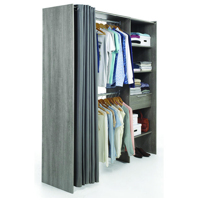 dressing a rideau affordable rideau pour armoire fabuleux dressing avec rideau with dressing a. Black Bedroom Furniture Sets. Home Design Ideas