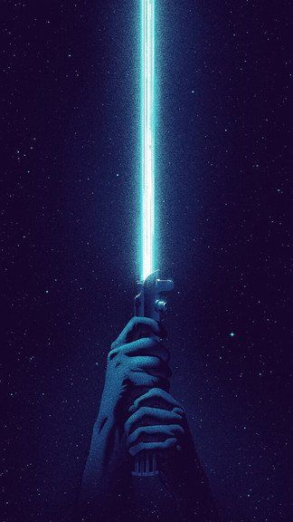 Blue Lightsaber Iphone 6 6 Plus Wallpaper Star Wars Sanati Yildiz Savaslari Retro Posterler