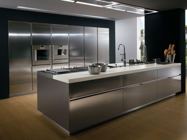 Cucina con maniglie ELEKTRA | Cucina in acciaio - ERNESTOMEDA