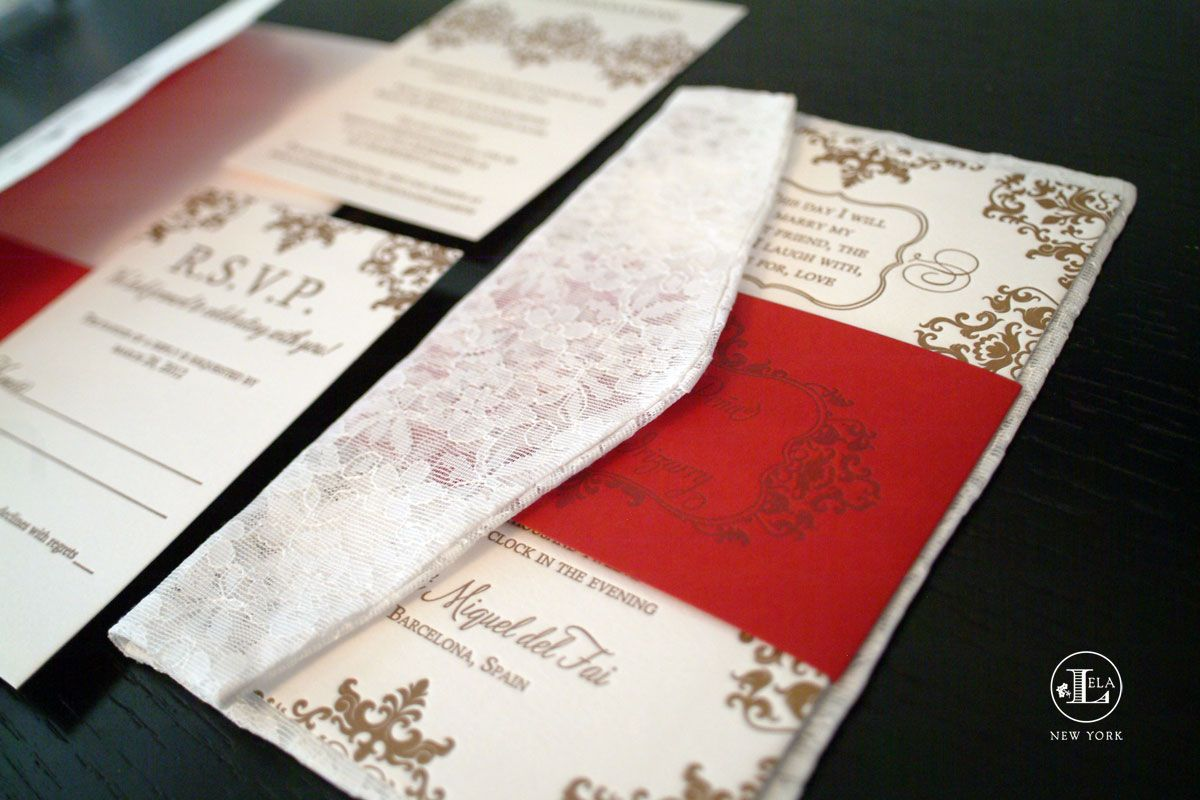 Spanish themed wedding invitations by Lela New York | Spanish ...