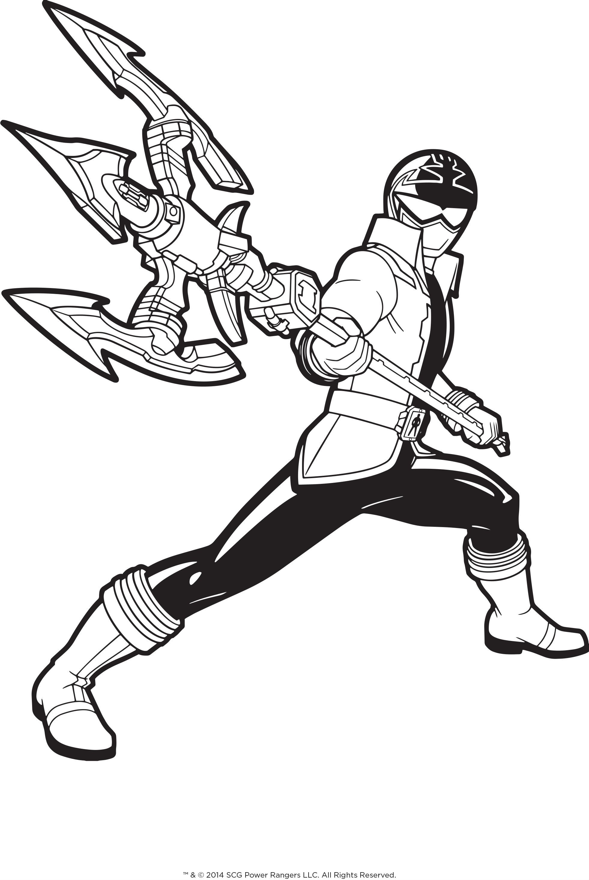 Pirate Power Ranger with trident coloring page for boys | Boys ...