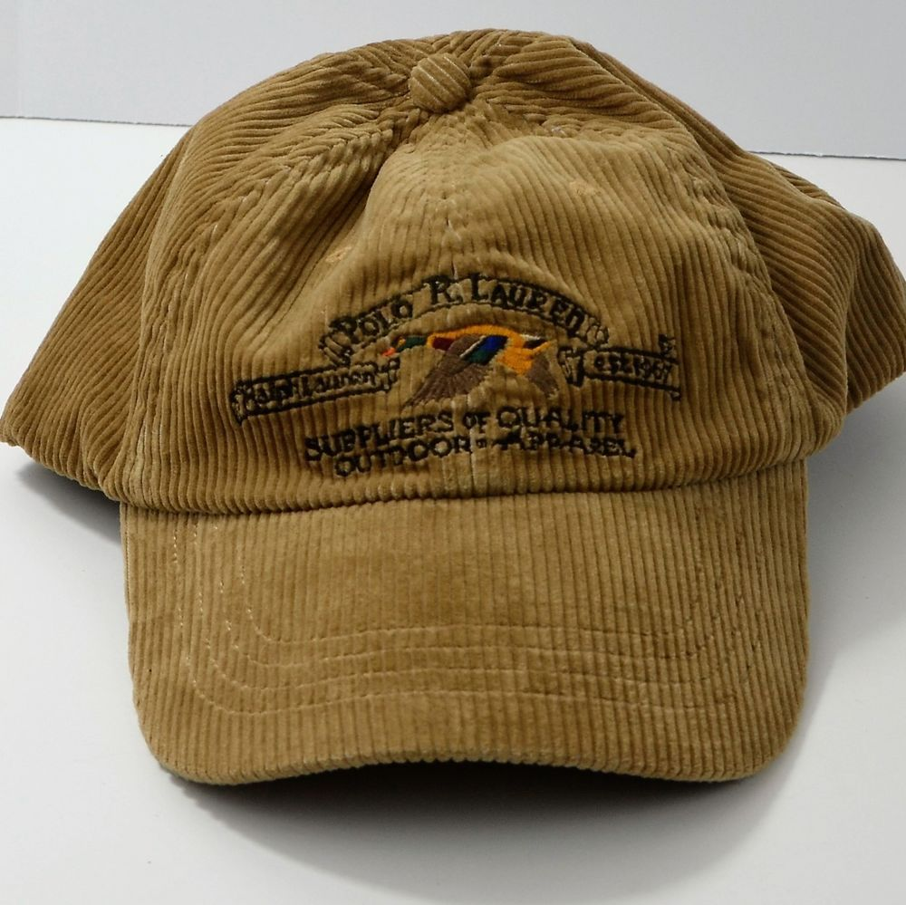 Leather Brown Lauren Corduroy Hat Ralph SoldPolo Duck Cap CBdxeor