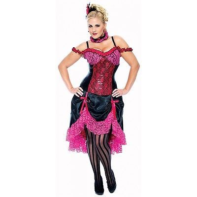 Madame Can Can Costume Saloon Girl Moulin Rouge French Dancer Fancy