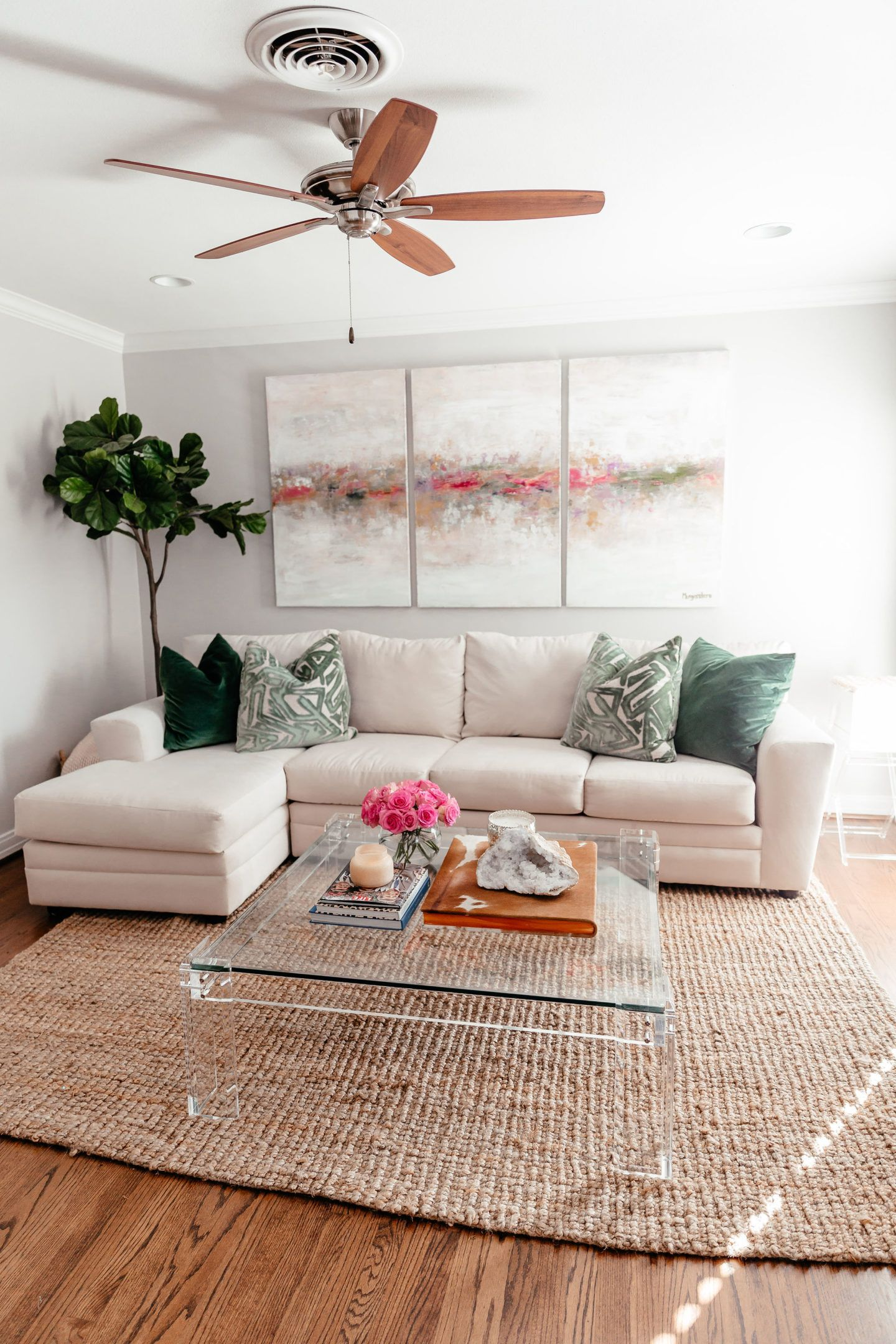 Living Room Reveal With Wayfair   Gal About Town   Table decor living room, Living room reveal ...