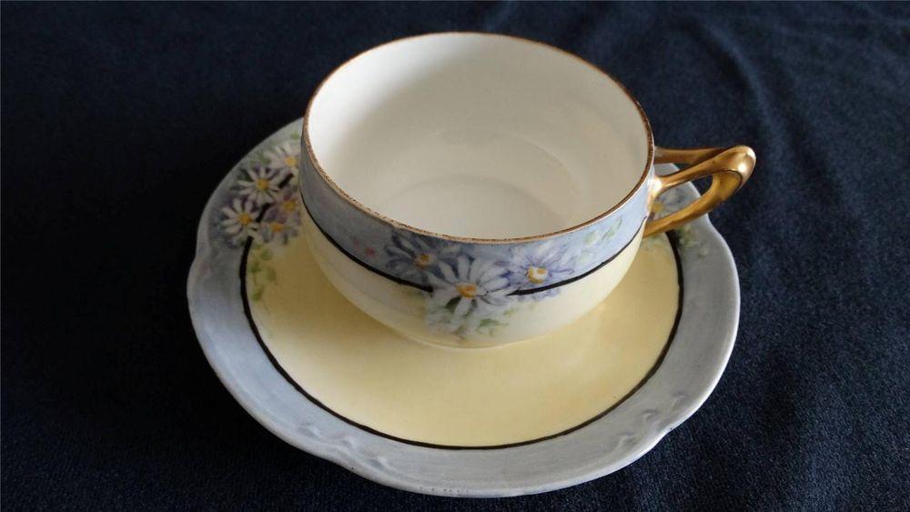 JR Hutschenreuther Selb Bavaria Gold Gilt Porcelain Tea Cup & Saucer Alice #JRHutschenreutherSelb