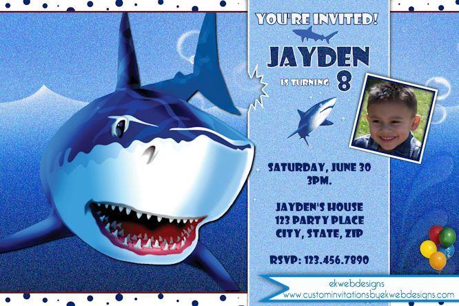 Shark birthday invitation shark party invitations ekwebdesigns shark birthday invitation shark party invitations ekwebdesigns filmwisefo