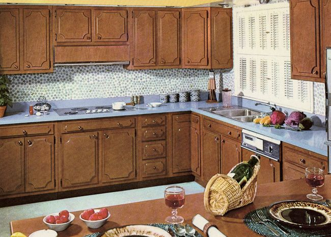 wooden knobs for kitchen cabinets decorating a 1960s kitchen 21 photos with even more 1962