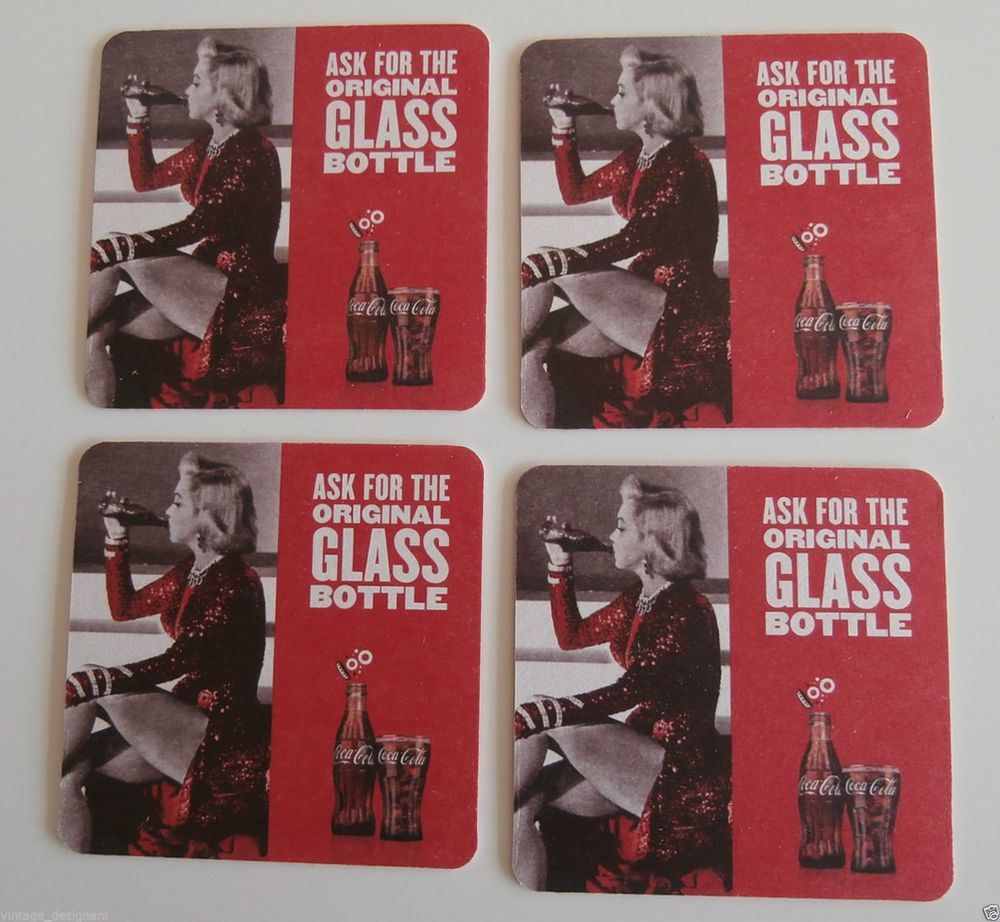 Coca Cola Coke Marilyn Monroe Coasters Beer Mats x 12 New & Unused