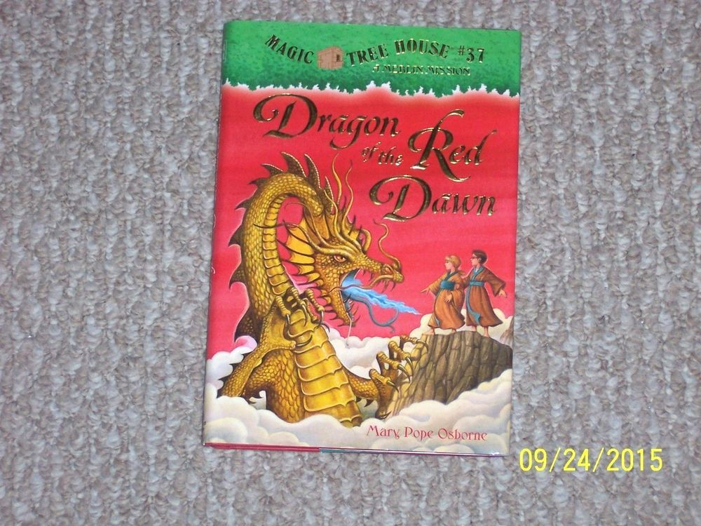 Magic Treehouse 3 Part - 36: Magic Tree House Merlin Mission~Dragon Of The Red Dawn~Mary Pope Osborne