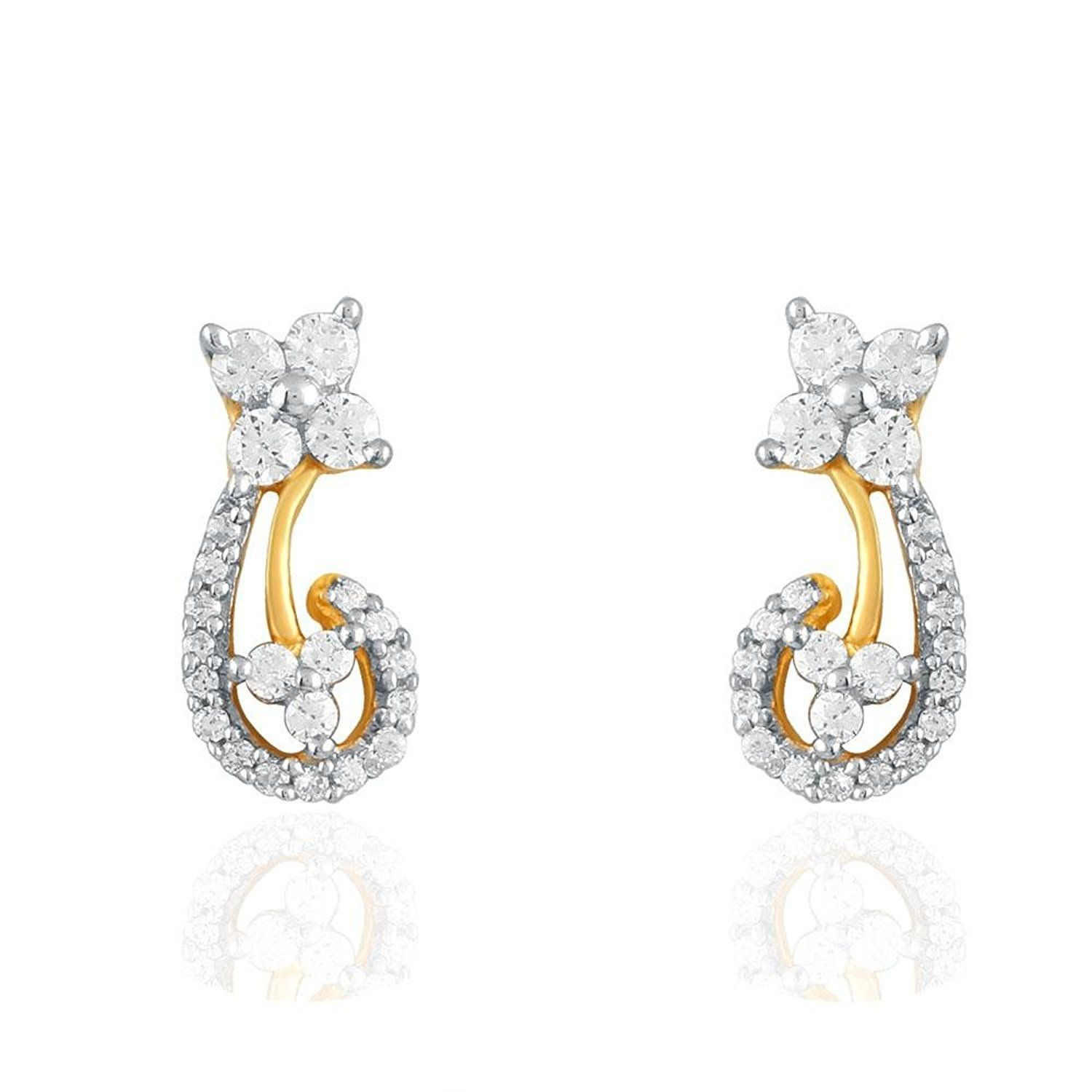 Giantti Women s 14KT Diamond Stud Earring IGL Certified 0 274 Ct