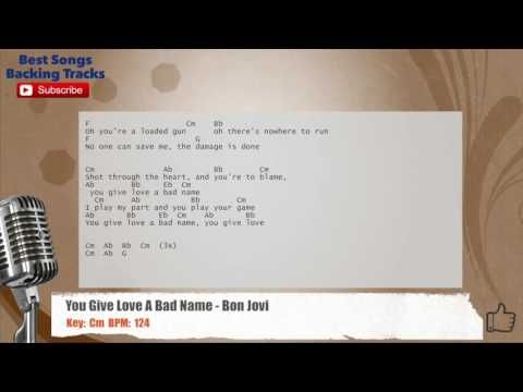 You Give Love A Bad Name - Bon Jovi Vocal Backing Track with chords ...