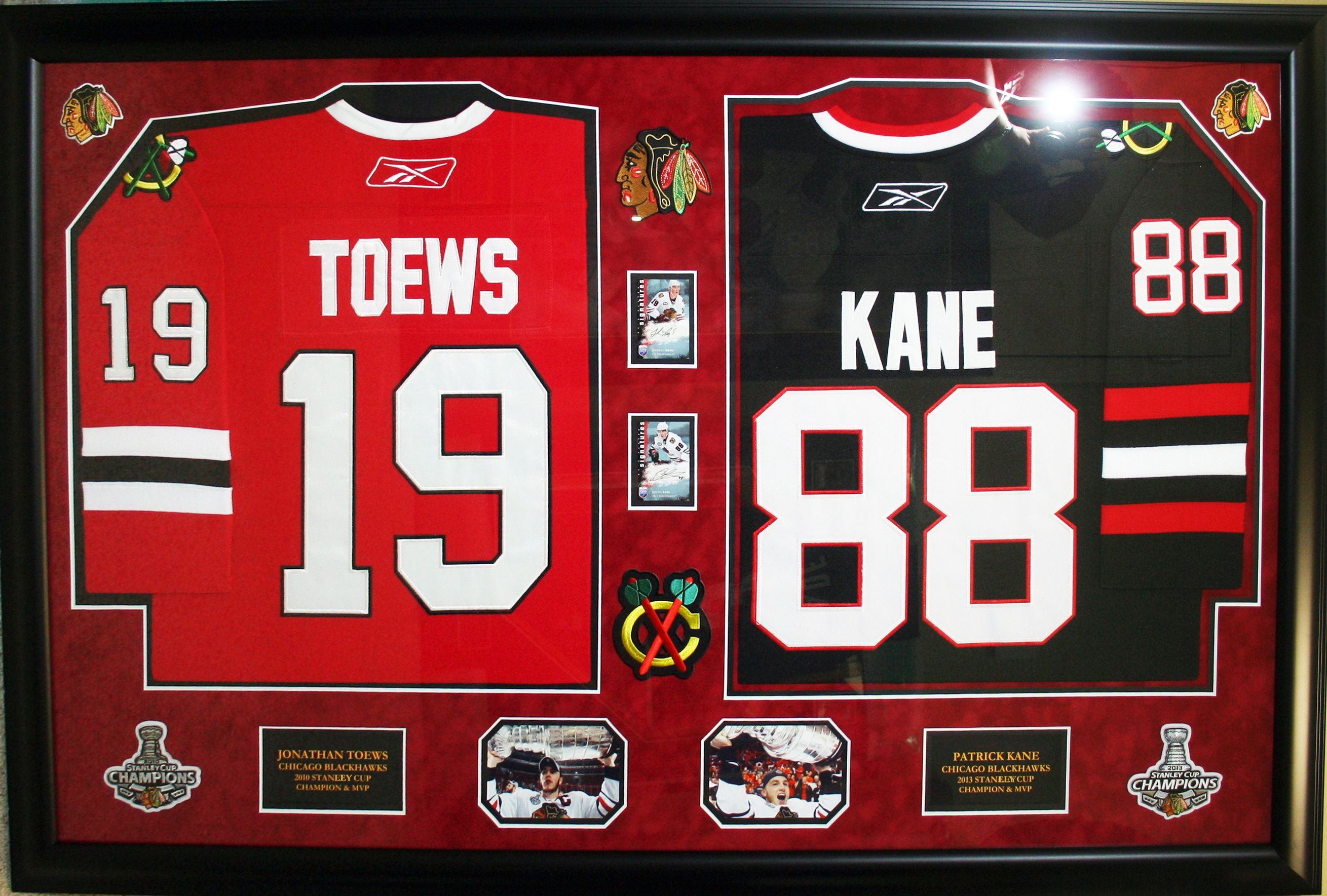 Chicago Blackhawks - Jonathan Toews and Patrick Kane autographed ...