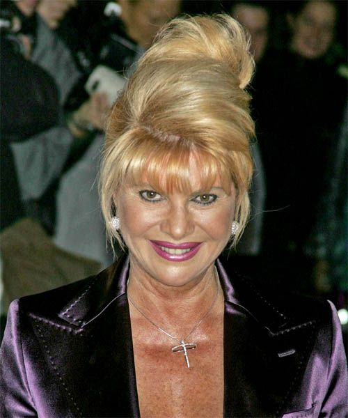 Ivana Trump Long Straight Formal Updo Hairstyle Recipes To Cook