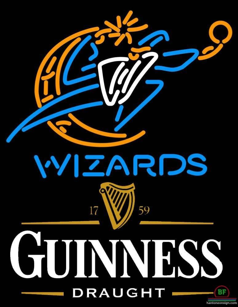Guinness Draught Washington Wizards Neon Sign Nba Teams Neon Light Guinness Draught Neon Beer Signs Guinness