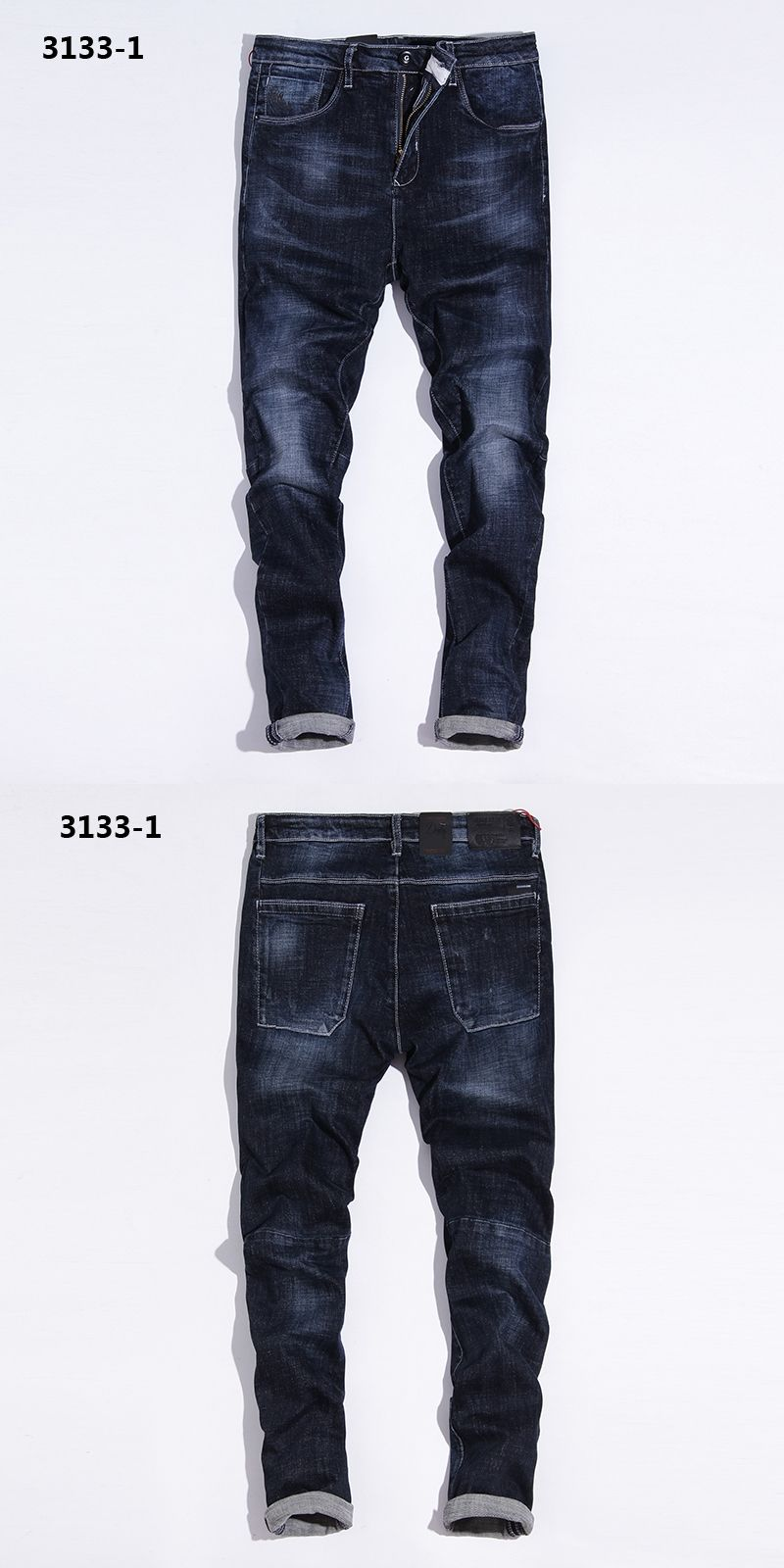 England Dark Blue Jeans Men Waterwash Denim Overalls Men Brand Clothing  Mens Simple Designer Jeans Masculino Pants rtls 3133-1 277282bab0b7c