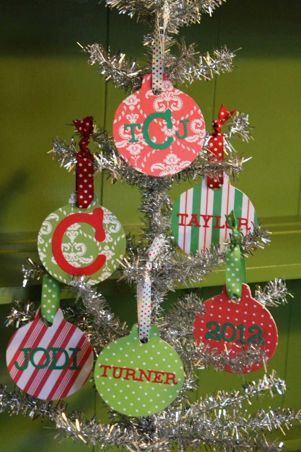 Custom Personalized Christmas Ornaments Monogram
