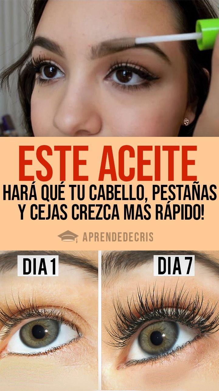 Este Aceite Hará Qué Tu Cabello Pestañas Y Cejas Crezca Mas Rápido Beauty Tips For Face Hair Repair Beauty Skin