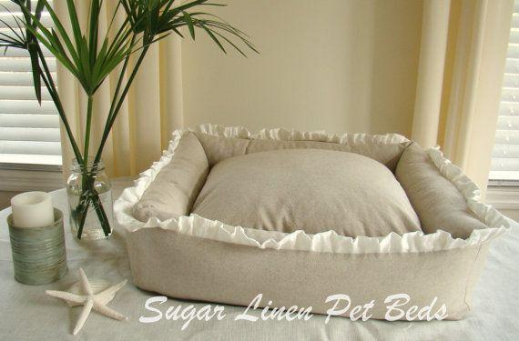 Linen dog bed!