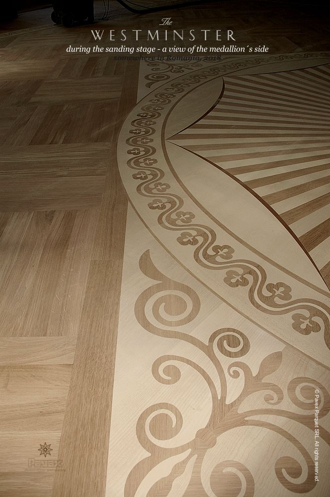 The Westminster Hardwood Floor Medallion Side View Manufactured