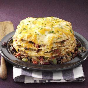Slow Cooker Enchiladas Recipe from Taste of Home -- shared by Mary Luebbert of Benton, Kansas