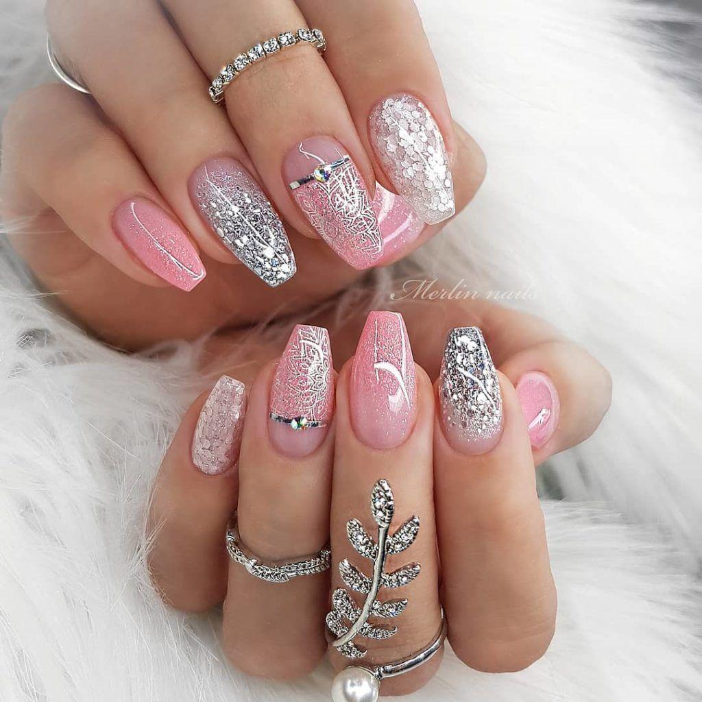 40 Stylish Short Coffin Nail Art Designs Light Pink Nail Designs Pink Nail Designs Light Pink Nails